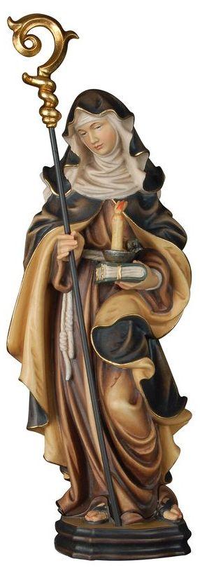 heiligenfiguren und namenspatrone aus holz geschnitzt hl brigitte mit kerze u buch. Black Bedroom Furniture Sets. Home Design Ideas