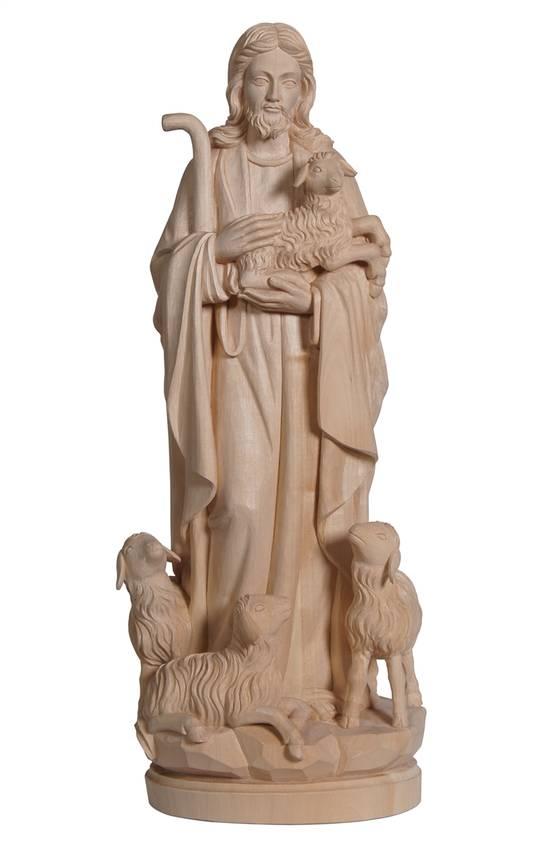 jesusfiguren und jesus christus statuen jesusfiguren jesus der gute hirte holzschnitzereien. Black Bedroom Furniture Sets. Home Design Ideas